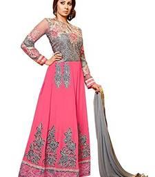 Buy Pink embroidered georgette salwar sharara online