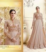 Buy Light pink embroidered georgette salwar