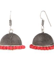 Buy Silver pearl jhumkas jhumka online