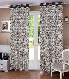 Buy Coins Printed Cotton Curtains with 8 Eyelets & Plain Tiebacks for Door (Single Pc) other-home-accessory online