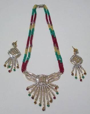 Crystal Zircon Designer Necklace 02