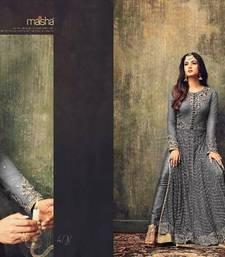 Buy Grey embroidered net salwar bollywood-salwar-kameez-online online