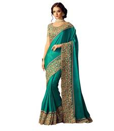 Buy Multicolor embroidered silk saree with blouse designer-embroidered-saree online