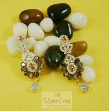 Multi Gemstones CZ Zircone Earrings