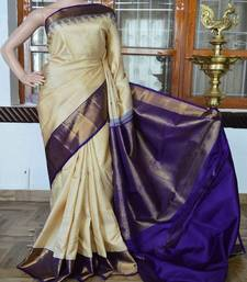 Buy Multicolor printed tussar silk saree with blouse tussar-silk-saree online