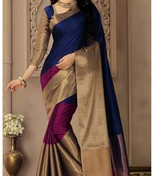 Buy Black plain silk saree with blouse kota-silk-saree online