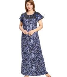 Buy Blue  Cotton Full Length Maxi For Women's maxi-dress online