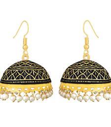 Buy Meenakari tokri jhumki pearl earring set Earring online
