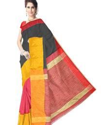 Buy GiftPiper Bengal Handloom Cotton Silk Saree with Ghicha Pallu- Multicolored bengali-saree online