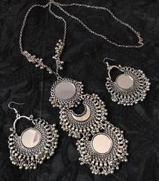 Buy TRIBAL GERMAN SILVER NECKLACE SET necklace-set online