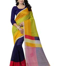 Buy Multicolor printed art silk saree with blouse silk-saree online