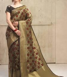 Buy gold woven kanchipuram silk saree with blouse kanchipuram-silk-saree online