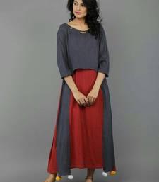 Buy Silver plain rayon stitched kurti kurtas-and-kurti online