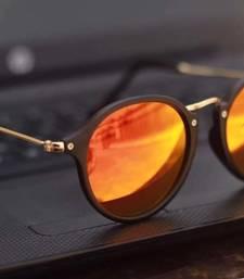 Buy Golden Classic Style Sunglasses sunglass online