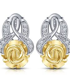 Buy Platinum Plated 925 Silver Round Cut Simulated Diamond Stud Earrings for women stud online