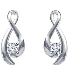 Buy Infinity Solitaire Earrings 925 Sterling Silver White Platinum Plated A+ CZ cubic-zirconia-cz-earring online