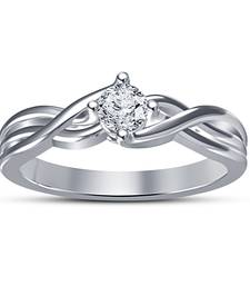 Buy Womens Simple & Daily Use White Platinum Plated Solitaire Wedding Ring Ring online
