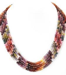 Buy Watermelon Tourmaline Gem stone Necklace gemstone-necklace online