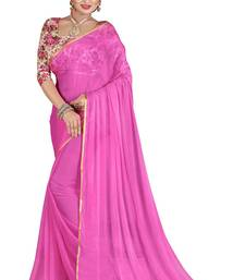 Buy Light pink printed nazneen saree with blouse party-wear-saree online