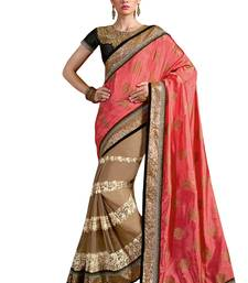 Buy Black embroidered silk blend saree with blouse south-indian-saree online