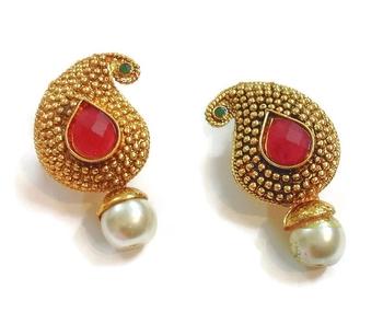 Paisley Pearl drop earrings