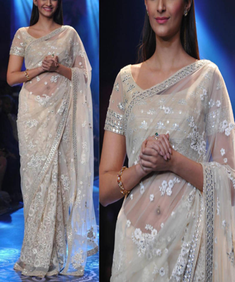 Buy Off White With Embroidery Thread Work Bollywood