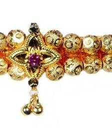 Buy Kolhapuri Traditional Gold Choker Thushi Necklace Necklace online