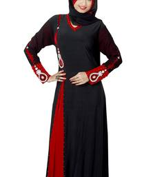 Buy Black Colored Lycra Stitched Abaya abaya online