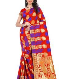 Buy Multicolor printed banarasi silk saree with blouse art-silk-saree online