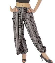 Buy Rajasthani Designer Black n White Girl Harem Pants harem-pant online