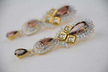 Dazzling Earrings in Austrian Diamonds