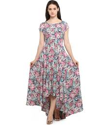 Buy Women's Floral Printed Elegent Maxi Dress dress online