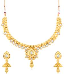 Buy Sukkhi Alluring Gold Plated Choker Necklace Set for women necklace-set online