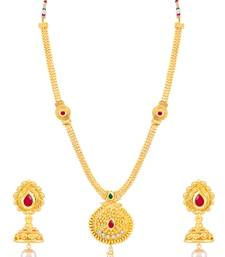 Buy Sukkhi Graceful Gold Plated Necklace Set for women necklace-set online