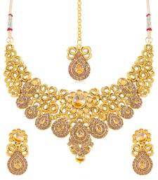 Buy Sukkhi Appealing Gold Plated Necklace Set for women necklace-set online