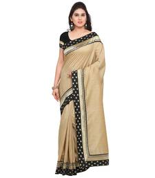Buy Beige plain art silk saree with blouse kota-silk-saree online