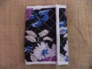 Black floral Bifold Wallet