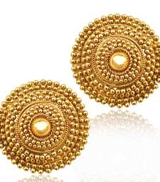 Buy South Indian golden flower ethnic ADIVA copper stud ab74 stud online