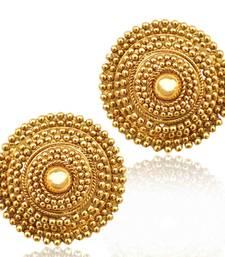 Buy South Indian golden flower ethnic ADIVA copper stud ab74 stud online