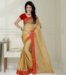 Buy Red brasso art silk saree with blouse brasso-saree online
