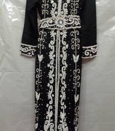 Buy Black georgette hand embroidery stitched abaya abaya online