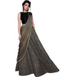 Buy Black embroidered silk unstitched lehenga with dupatta party-lehenga online