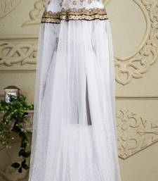 Buy Brown and white crepe and silk and georgette and satin and net sequins and stones islamic kaftans islamic-kaftan online