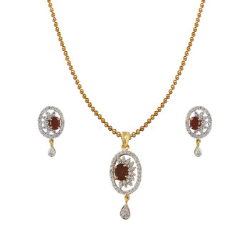 Heena Contemporary Collection Pendent Set >> HJPN117BR <<