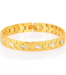 Buy Creative Gold and Rhodium Plated Bracelet For Men men-bracelet online