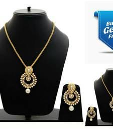 Buy Buy 1 Get 1 Gold pearl necklace-sets bridal-set online
