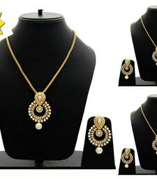 Buy Buy 2 Get 1 Free Gold pearl necklace-sets necklace-set online