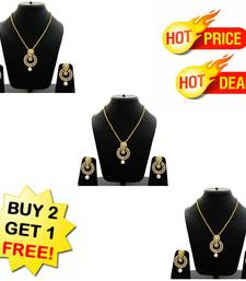 Buy Buy 2 get 1 Free Gold pearl necklace-sets jewellery-combo online
