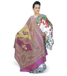 Buy Paisley Design Pure Kashmiri Pink Cashmilon Shawl shawl online