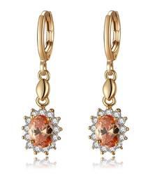 Buy Beige crystal earrings Earring online